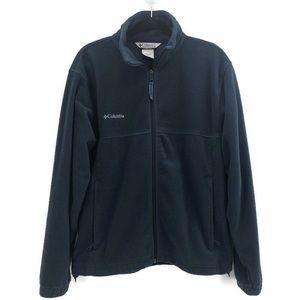 Columbia Mens Full Zip Blue Fleece